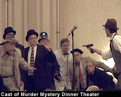 Cast of Murder Mystery Dinner Theater