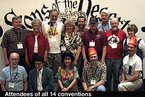 Attendees of all 14 conventions